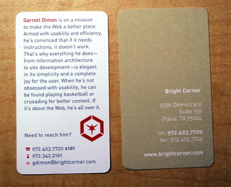 Bright Corner Business Card