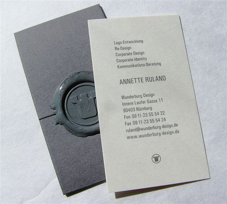 Wunderburg Design Business Card