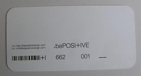 Be Positive Design Business Card