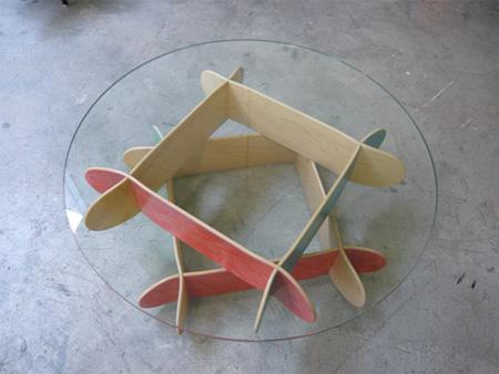 Skateboard Comet Coffee Table