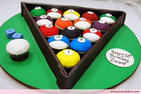 Billiard Cupcakes