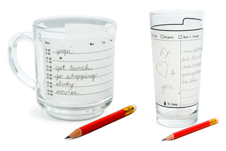 Write-On Glassware