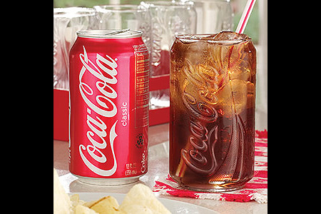 Coke Can Glass