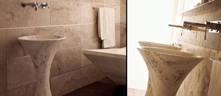 Vaselli Slim Travertine Basin