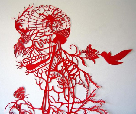 Paper Cutting Art by Kako Ueda