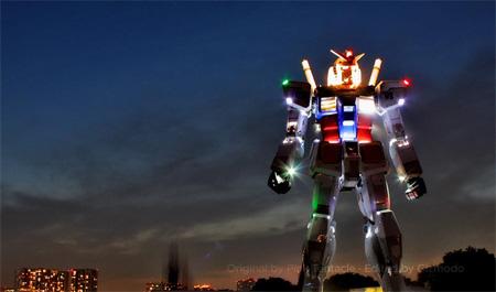 Gundam Robot Sculpture in Tokyo