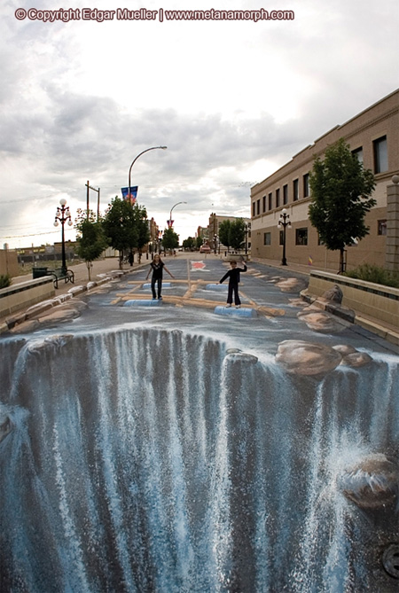 3D Waterfall in Canada