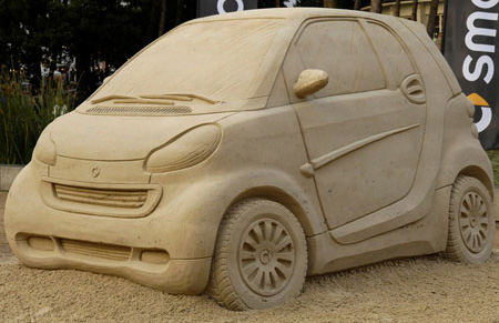 Smart Car Sand Sculpture