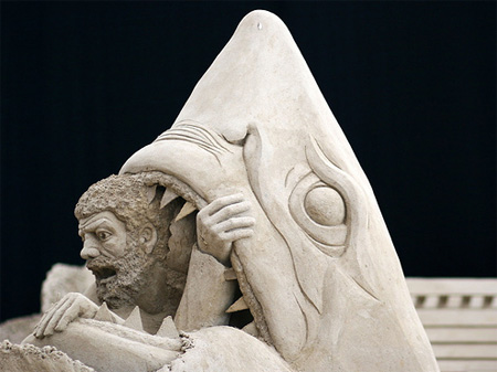 Cry for Help Sand Sculpture