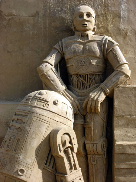 Star Wars Sand Sculpture