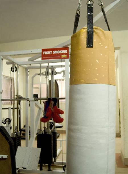 Fight Smoking Punching Bag