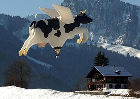 Cow Hot Air Balloon