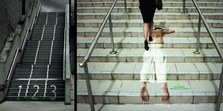 Creative Advertising on Stairs