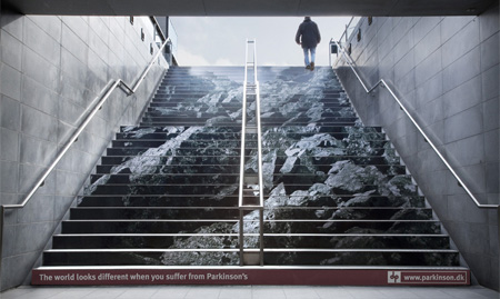Parkinsons Disease Stairs Advertisement
