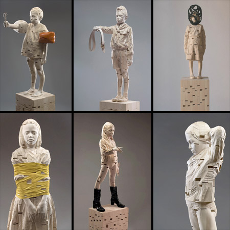 Sculptures by Gehard Demetz