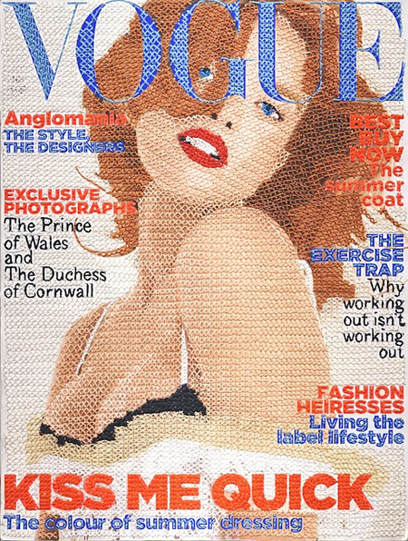 Hand Stitched Vogue Cover