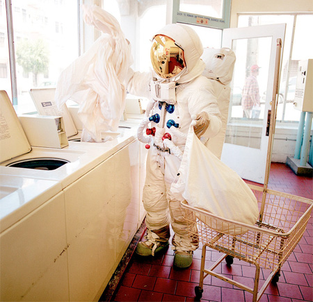 Astronaut Does Laundry