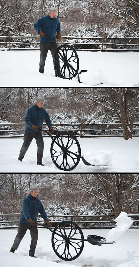 Snow Shovel On A Wheel