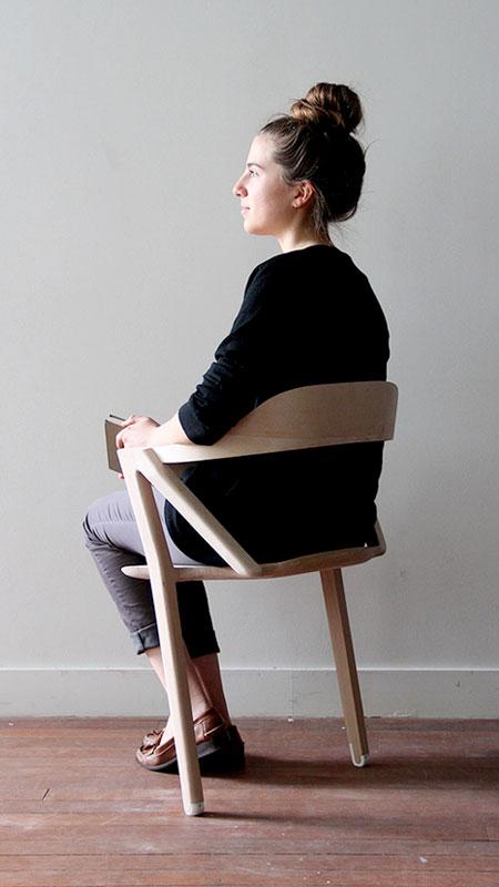 Two Legged Chair