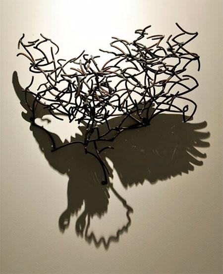 Steel Wire Shadow Art