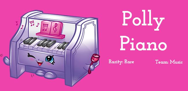 Shopkins Season 5 Character Polly Piano