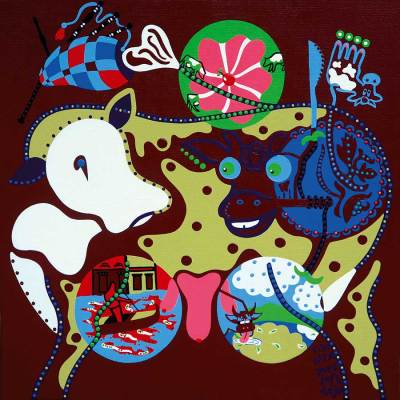 Painting - Four Stomachs Love - Toyism. Buy art online.