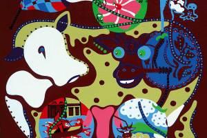 Schilderij - Vier Magen Liefde - Toyisme. Hedendaagse kunst online kopen.