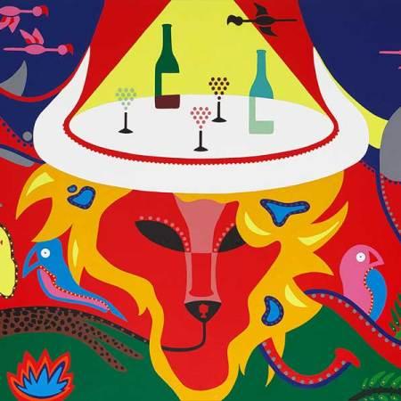 Schilderij - Big Five Schilderij - Toyisme. Hedendaagse kunst online kopen.