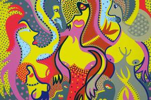 Painting - Damsels Devastation - Toyism. Buy art online.