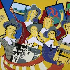 Painting - The Golden Ark - Toyism. Buy art online.
