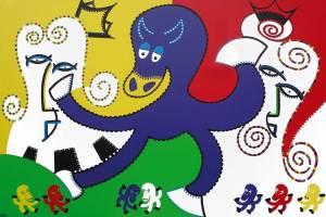 Schilderij - Macht Een Paardenkracht - Toyisme. Hedendaagse kunst online kopen.