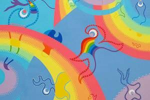 Schilderij - Regenboog Universum - Toyimse. Hedendaagse kunst online kopen.