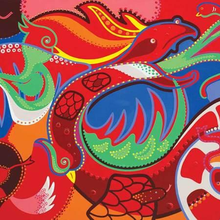 Schilderij - Quetzalcoatl - Toyisme. Hedendaagse kunst online kopen.