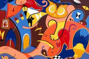 Schilderij - Stille Insluipers Schilderij - Toyisme. Hedendaagse kunst online kopen.