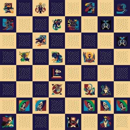 Kunstdruk - Kasparov Deep Blue Kunstdruk - Toyisme. Kunst te koop. Koop kleurrijke kunstdruk online.