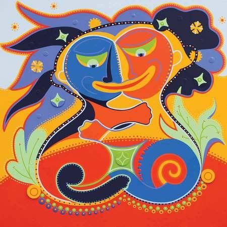 Kunstdruk - Twee in Een - Toyisme. Kunst te koop. Koop kleurrijke kunstdruk online.