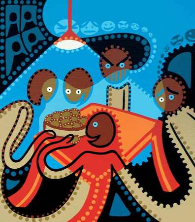 Fine Art Print - The Potato Eaters - Toyism. Art for sale. Buy bestselling art prints online.