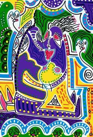 Kunstdruk - Tongzoen - Toyisme. Kunst te koop. Koop kleurrijke kunstdruk online.