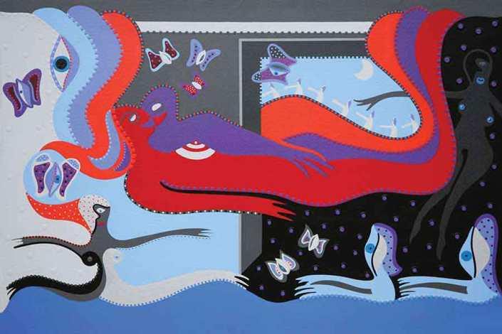 Kunstdruk - Paradijswandelaar - Toyisme. Kunst te koop. Koop kleurrijke kunstdruk online.