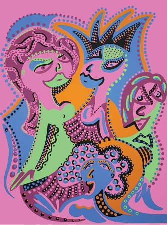Silkscreen - Ladies Hair Dressing Silkscreen - Toyism. Art for sale. Buy bestselling silkscreens online.