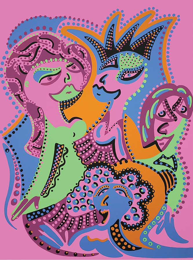 Silkscreen - Ladies Hair Dressing Silkscreen - Toyism. Art for sale. Buy bestselling silkscreens online.