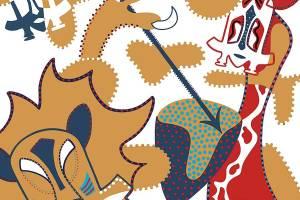 Silkscreen - Two Tribes Silkscreen -Toyism. Art for sale. Buy bestselling silkscreens online.
