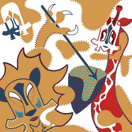 Zeefdruk - Grafiek - Twee Stammen Zeefdrukk - Toyisme. Kunst te koop. Koop kleurrijke kunstdruk online.