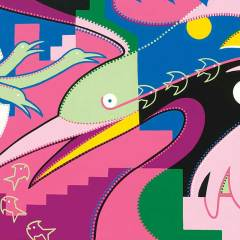 Schilderij - Vogelleven - Toyisme. Hedendaagse kunst online kopen.