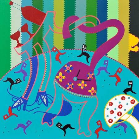 Schilderij - Deur 13 - Toyisme. Hedendaagse kunst online kopen.