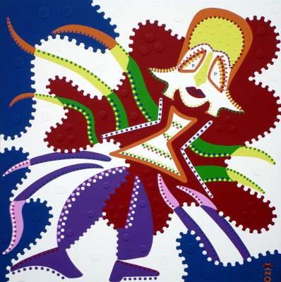 Schilderij - Opvliegerdans - Toyisme. Hedendaagse kunst online kopen.