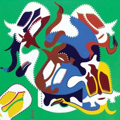 Schilderij - Gemaskerde Stip - Toyisme. Hedendaagse kunst online kopen.