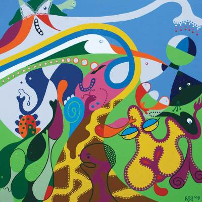 Schilderij - Carnaval Dieren - Toyisme. Hedendaagse kunst online kopen.