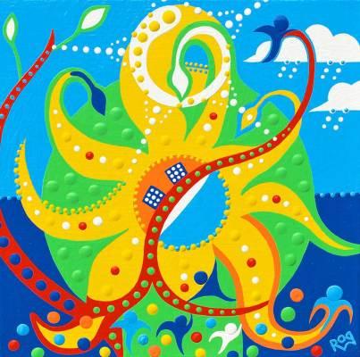 Schilderij - Paniek Zon - Toyisme. Hedendaagse kunst online kopen.
