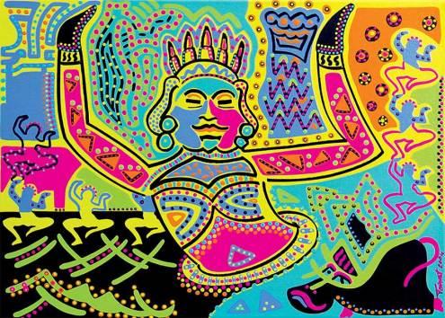 Painting - Asian Dancer - Toyism. Buy art online.